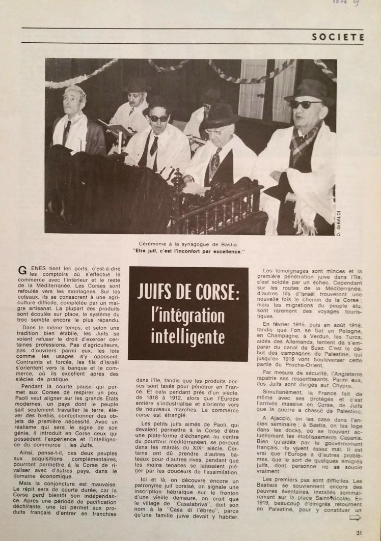 Juifs de Corse intégration